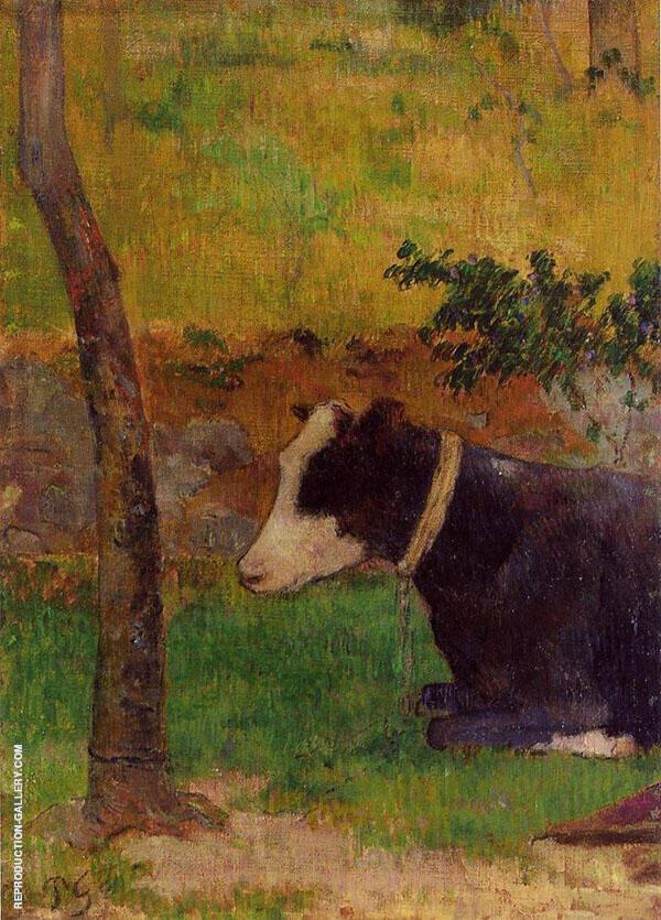Kneeling Cow 1888 By Paul Gauguin