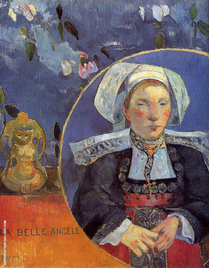 La Belle Angele, Madam Satre the Inkeeper at Pont Aven 1889 By Paul Gauguin