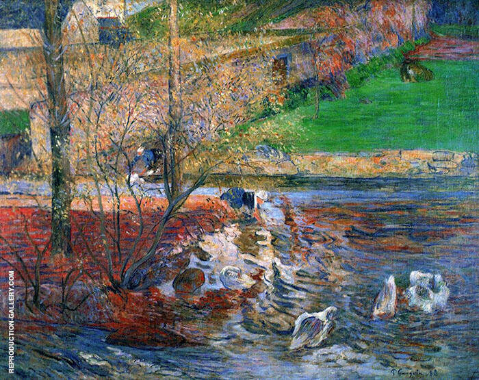 Landscape with Geese 188 By Paul Gauguin