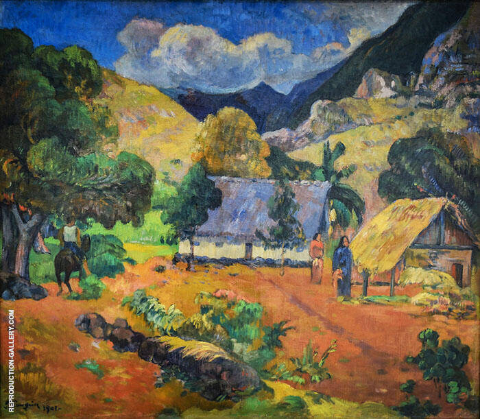 Landscape with Three Figures 1901 By Paul Gauguin