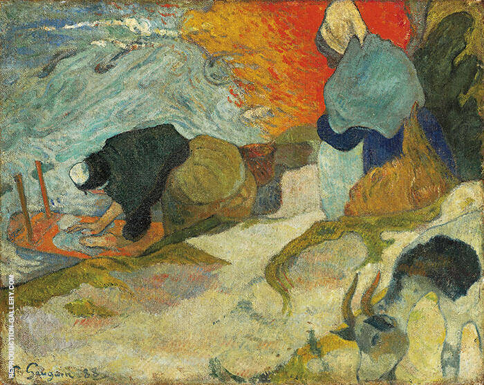 Washerwomen of Arles 1888 By Paul Gauguin