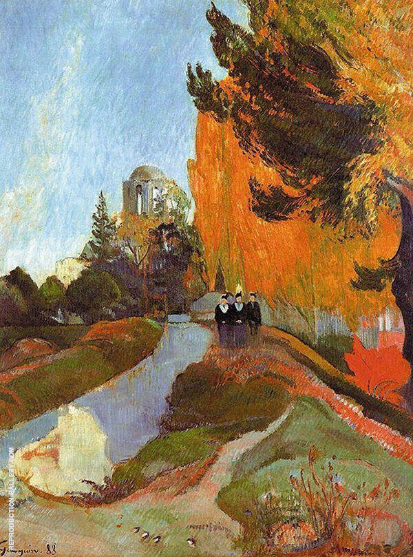 Les Alycamps 1888 By Paul Gauguin