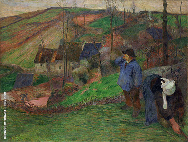 Little Breton Shepherd 1888 By Paul Gauguin