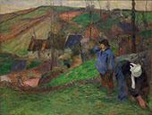 Little Breton Shepherd 1888 By Paul Gauguin