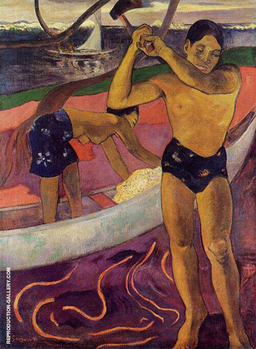 Man with Axe 1891 By Paul Gauguin