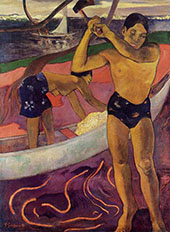 Man with Axe 1891 By Paul Gauguin