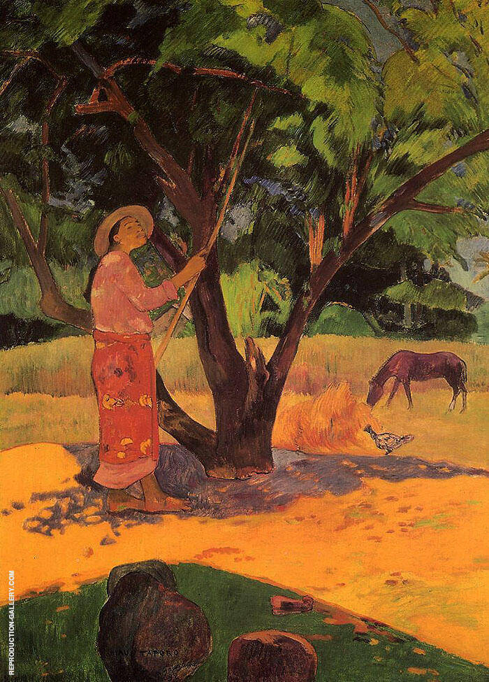The Lemon Picker, Mau Taporo, 1891 By Paul Gauguin