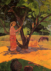The Lemon Picker, Mau Taporo, 1891 By Paul Gauguin