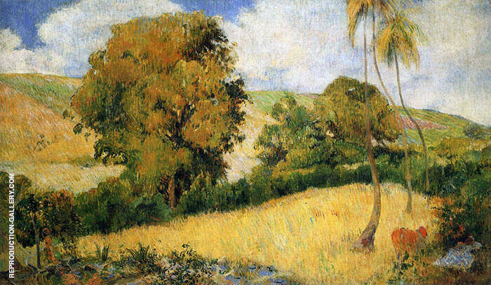 Meadow in Martinque 1887 By Paul Gauguin