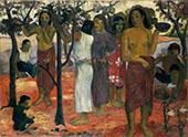 Delightful Day, Nave Nave Mahana 1896 By Paul Gauguin