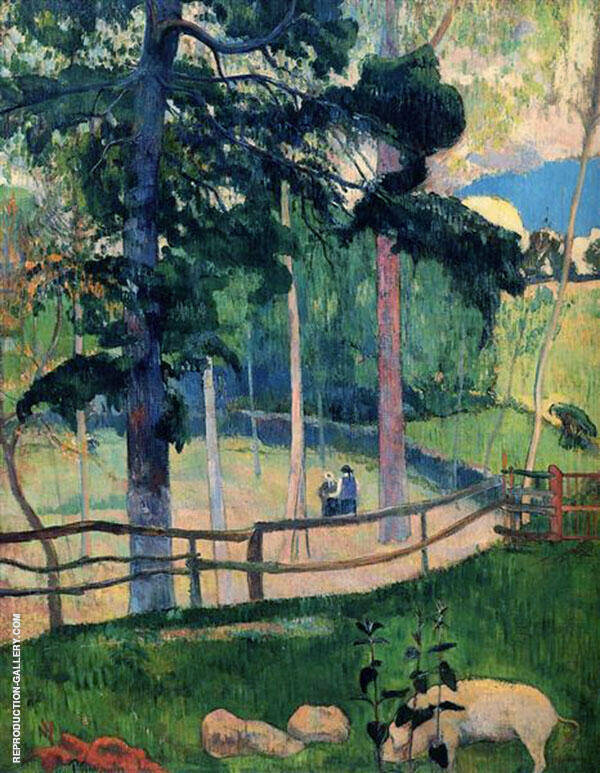Nostalgic Promenade 1889 Painting By Paul Gauguin - Reproduction Gallery