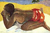 Alone, Otahi 1893 By Paul Gauguin