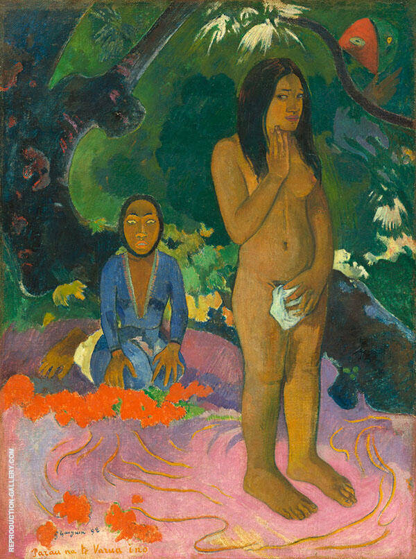 Words of the Devil, Parau Na Te Varua Ino 1892 By Paul Gauguin