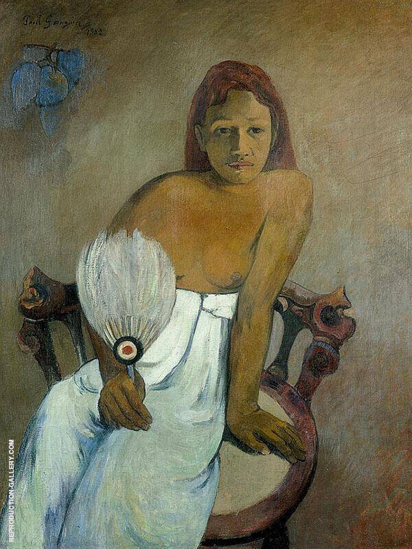 Girl with Fan 1902 By Paul Gauguin