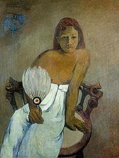 Girl with Fan 1902 By Paul Gauguin