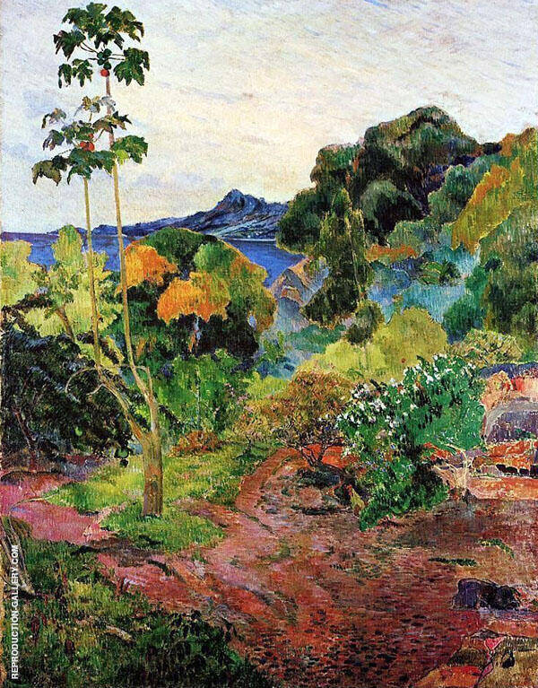 Tropical Vegetation Martinique, Bay of St. Pierre 1887 Painting By ...