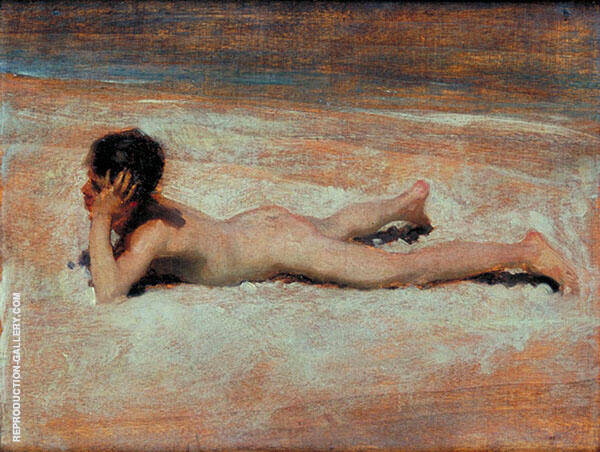 A Nude Boy on a Beach 1878 Painting By John Singer Sargent