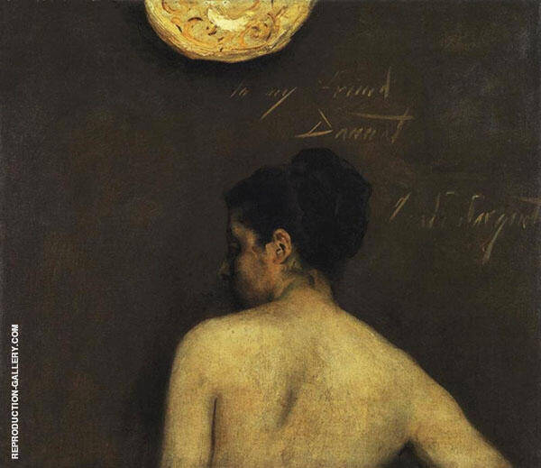 Back View of a Nude Model Painting By John Singer Sargent