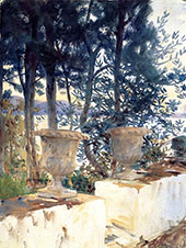 Corfu The Terrace 1909 By John Singer Sargent