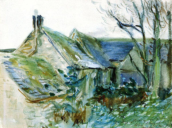 Cottage at Fairford Gloucestershire 1892 By John Singer Sargent