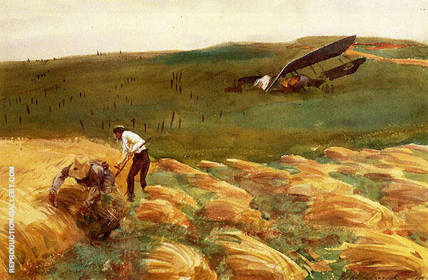 Crashed Aeroplane 1918 By John Singer Sargent