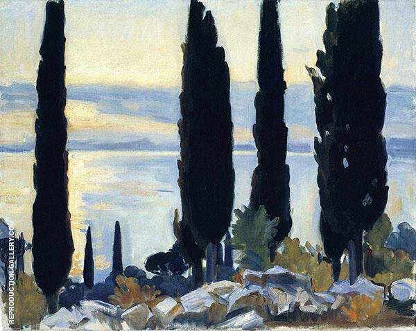 Cypress Trees at San Vigilio By John Singer Sargent