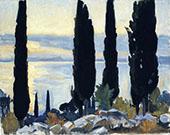 Cypress Trees at San Vigilio By John Singer Sargent