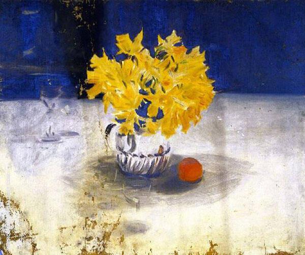 Daffodils in a Vase By John Singer Sargent