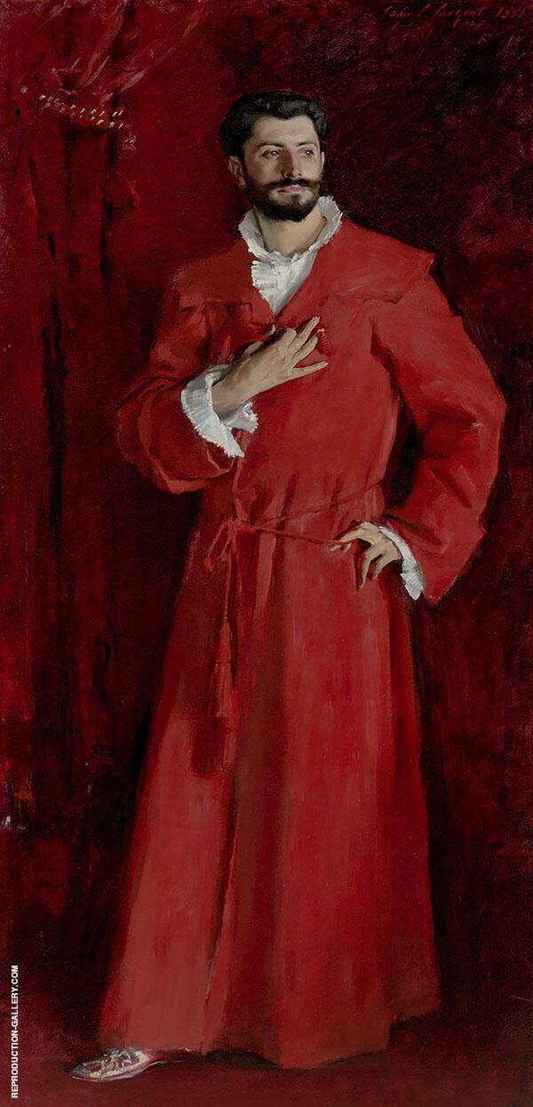 Dr Samuel Pozzi at Home 1881 By John Singer Sargent