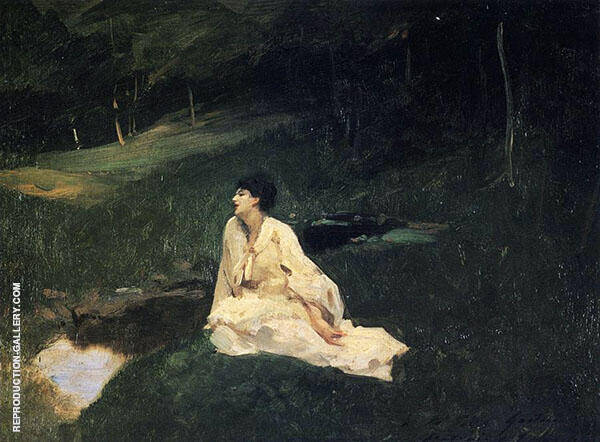 Judith Gautier By The River or Resting by a Spring 1885 By John Singer Sargent