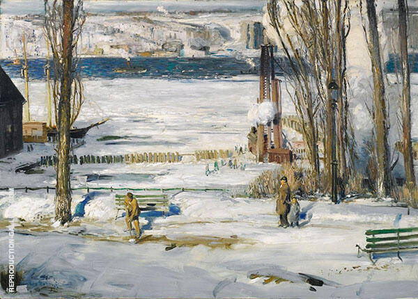 A Morning Snow Hudson River 1910 By George Bellows