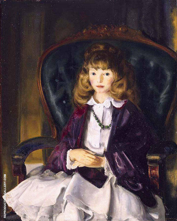 Anne in Purple Wrap By George Bellows