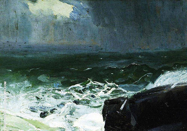 Approach of Rain 1913 By George Bellows