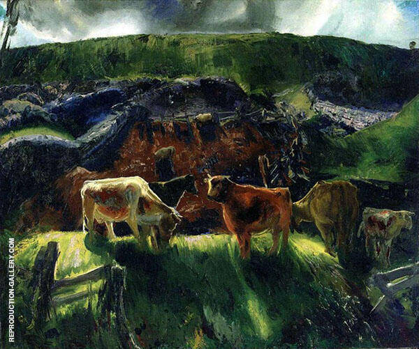 Cattle and Pig Pen By George Bellows