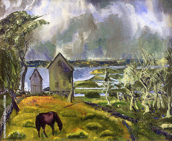 Dead Orchard Newport Rhode Island By George Bellows