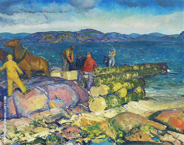 Dock Builders 1916 By George Bellows