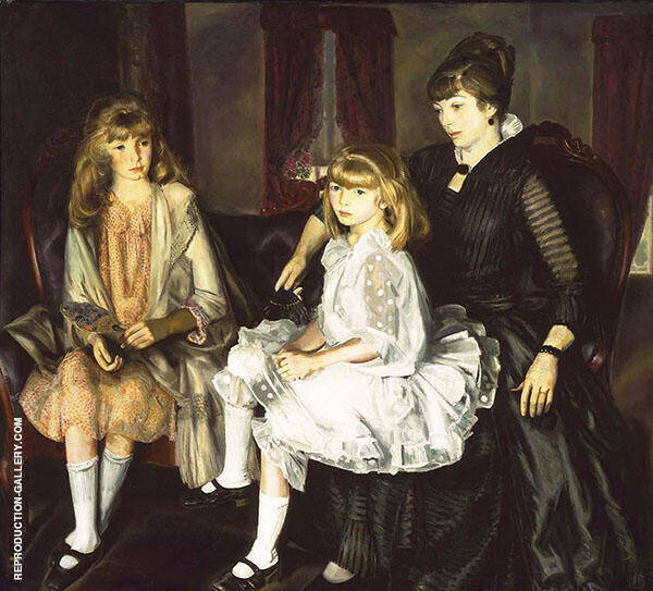 Emma and Her Children 1923 By George Bellows