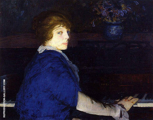 Emma at The Piano 1914 By George Bellows