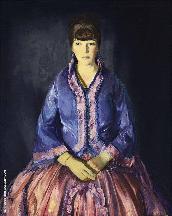 Emma in The Purple Dress By George Bellows