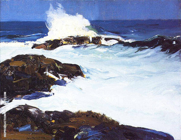 Flaming Breakers By George Bellows