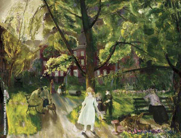 Gramercy Park 1925 By George Bellows