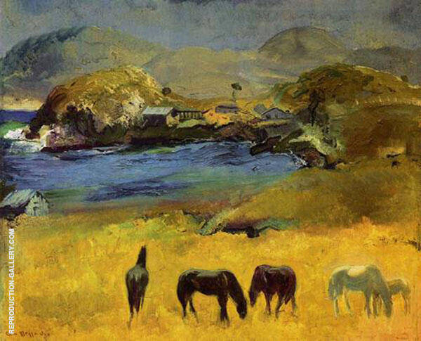 Horses Carmel 1917 By George Bellows