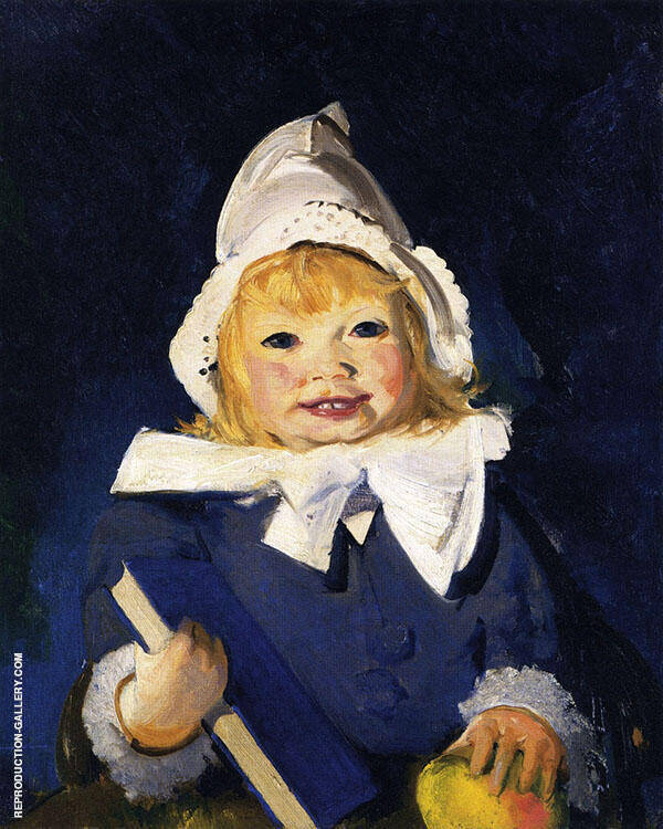 Jean with Blue Book and Apple By George Bellows
