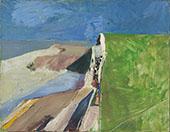 Seawall 1957 By Richard Diebenkorn