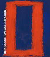Orange and Blue Seagram By Mark Rothko (Inspired By)