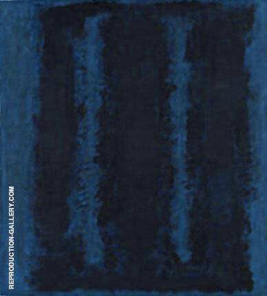 Two Blues Double By Mark Rothko (Inspired By)