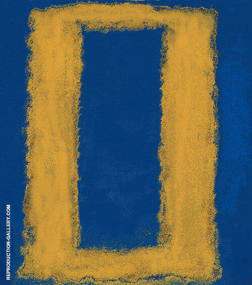Blue with Yellow Rectangle By Mark Rothko (Inspired By)