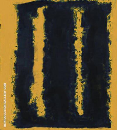 Yellow and Black Seagram By Mark Rothko (Inspired By)