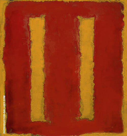 Yellow and Red Seagram By Mark Rothko (Inspired By)