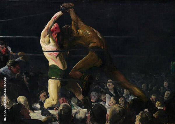 Members of This Club Painting By George Bellows - Reproduction Gallery